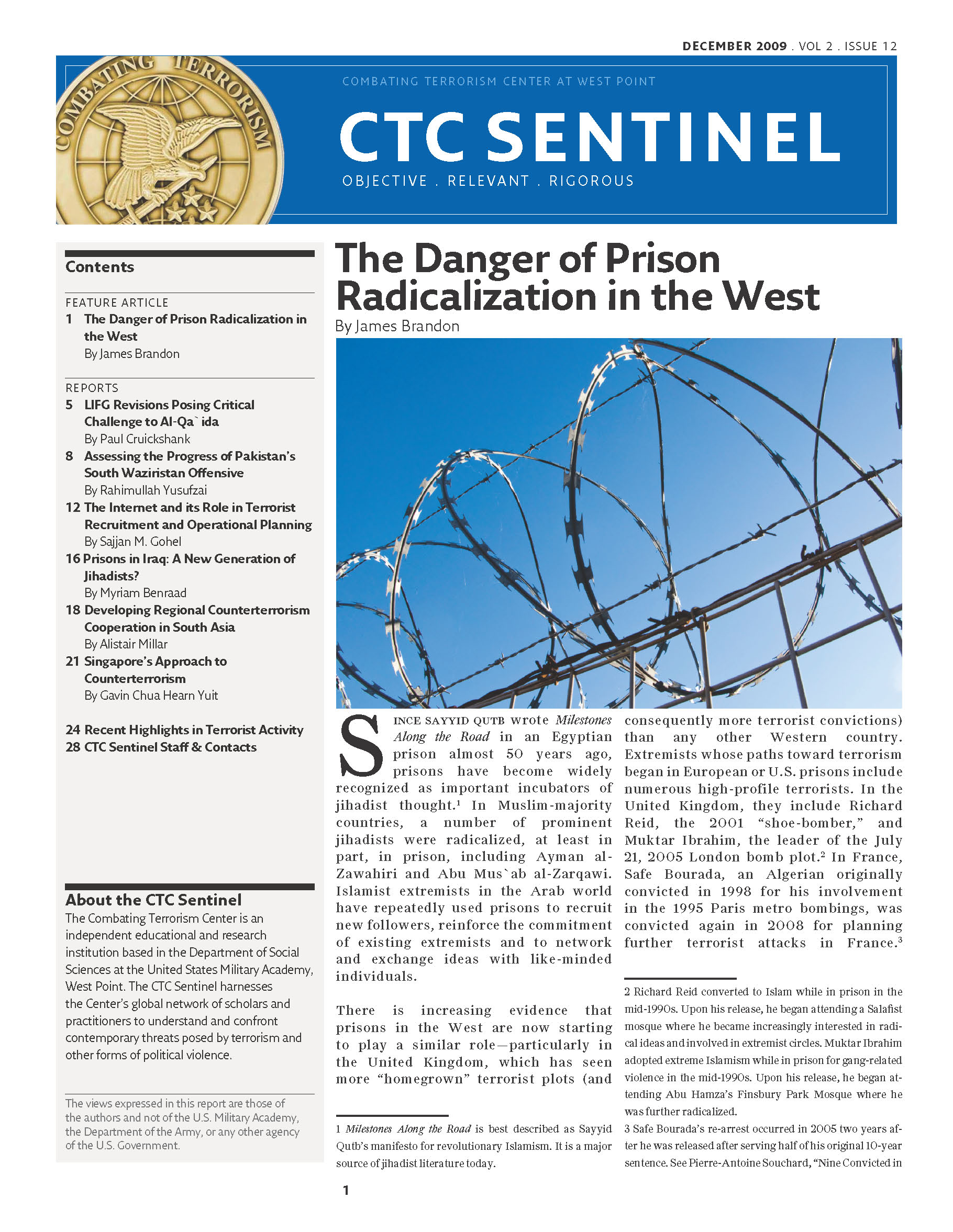 The Danger of Prison Radicalization in the West – Combating ...