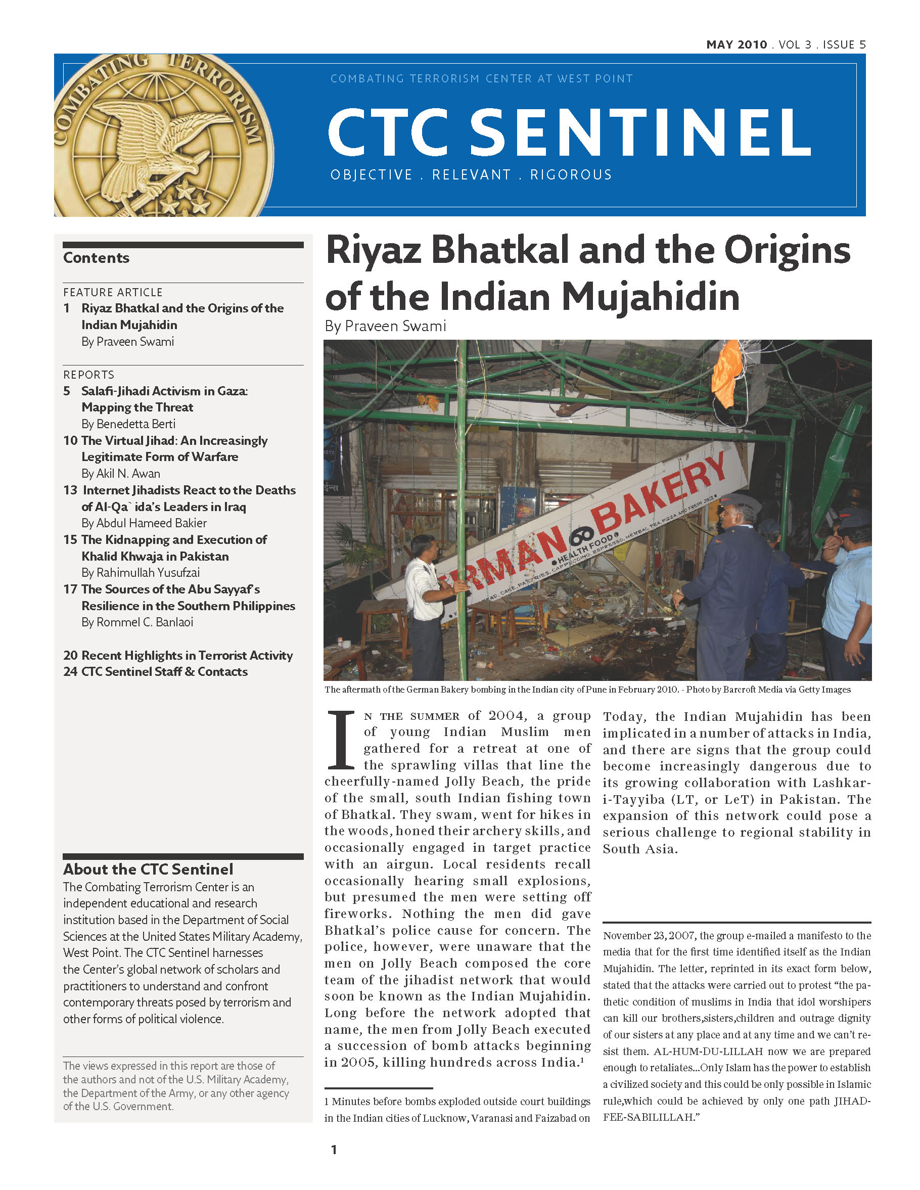 Riyaz Bhatkal and the Origins of the Indian Mujahidin – Combating