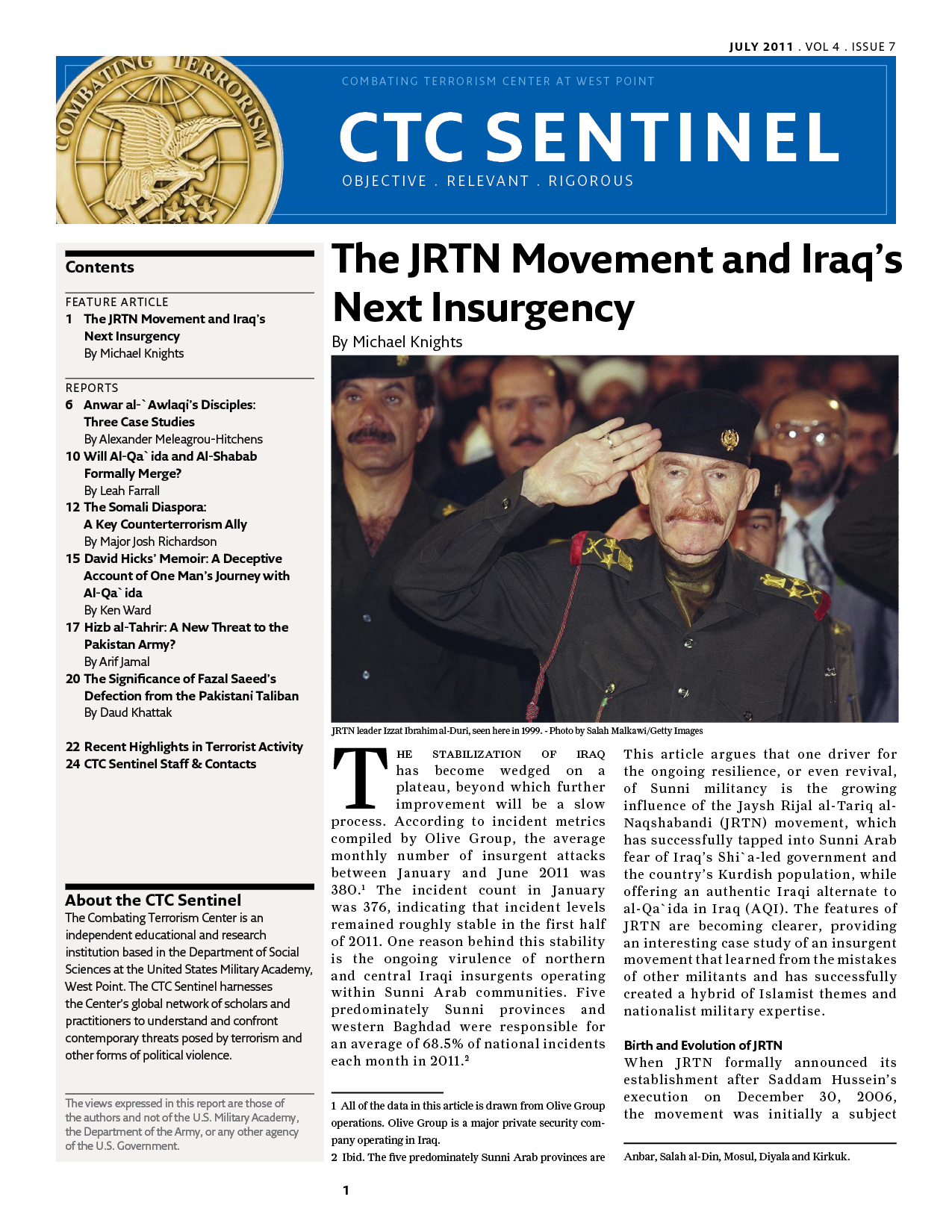 The Jrtn Movement And Iraq S Next