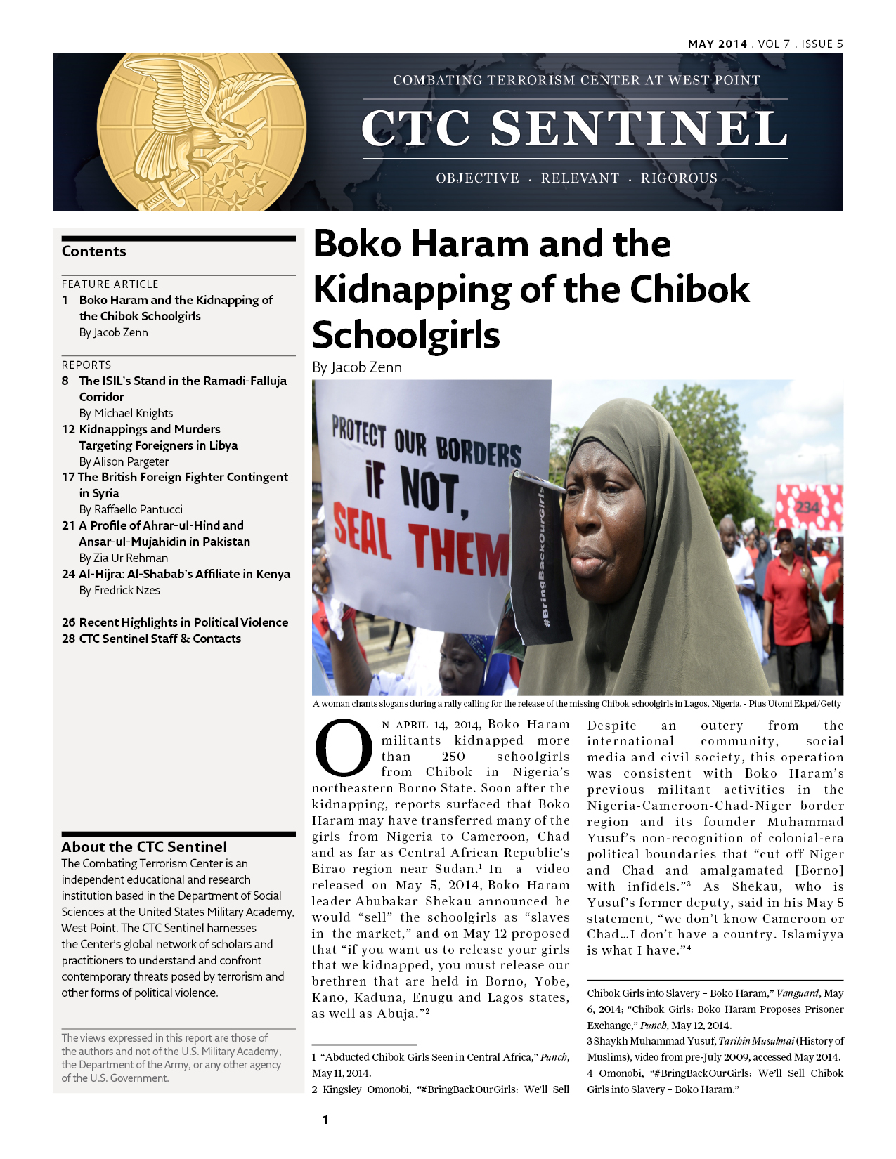 Boko Haram and the Kidnapping of the Chibok Schoolgirls