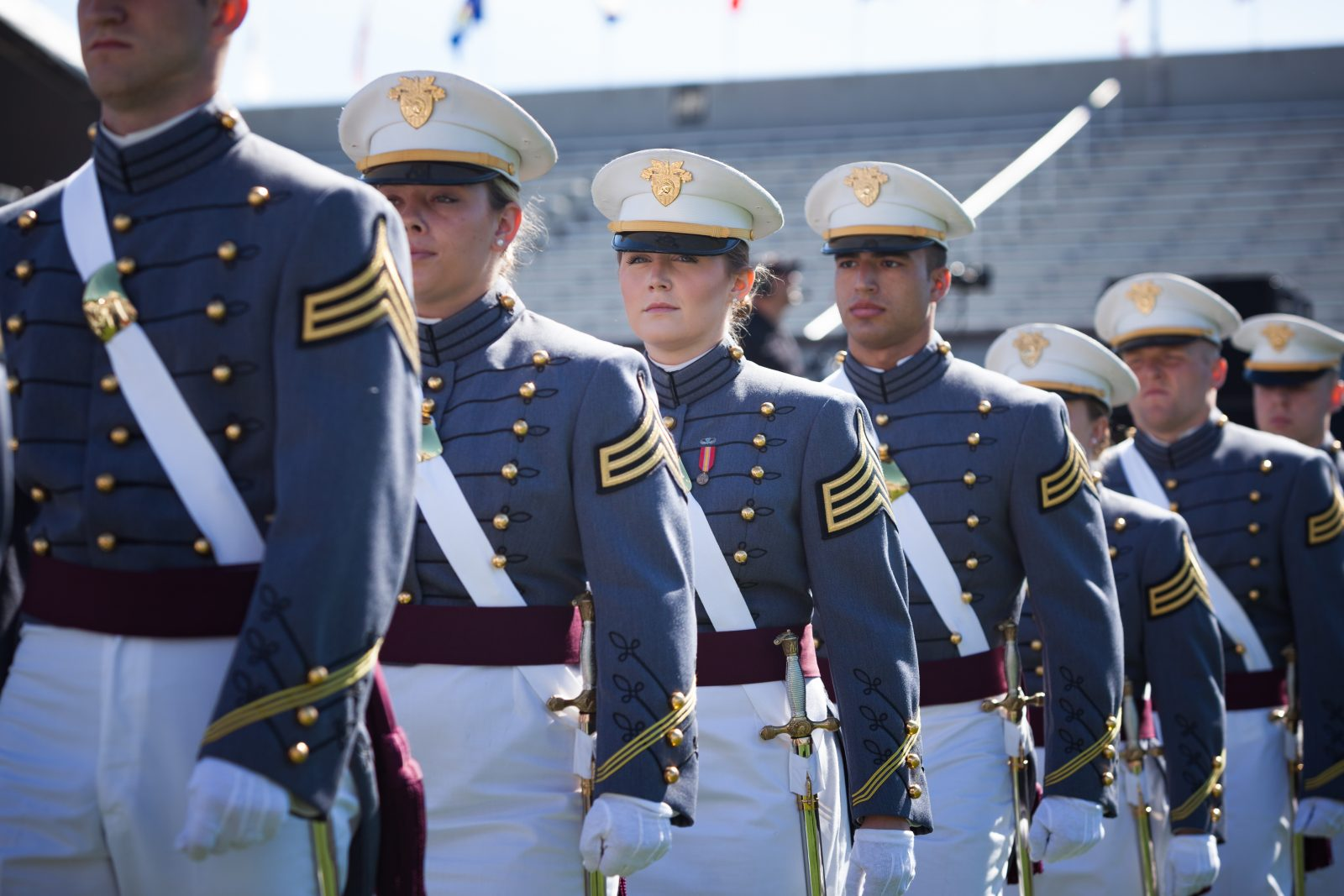 U.S. Military Academy cadets marching