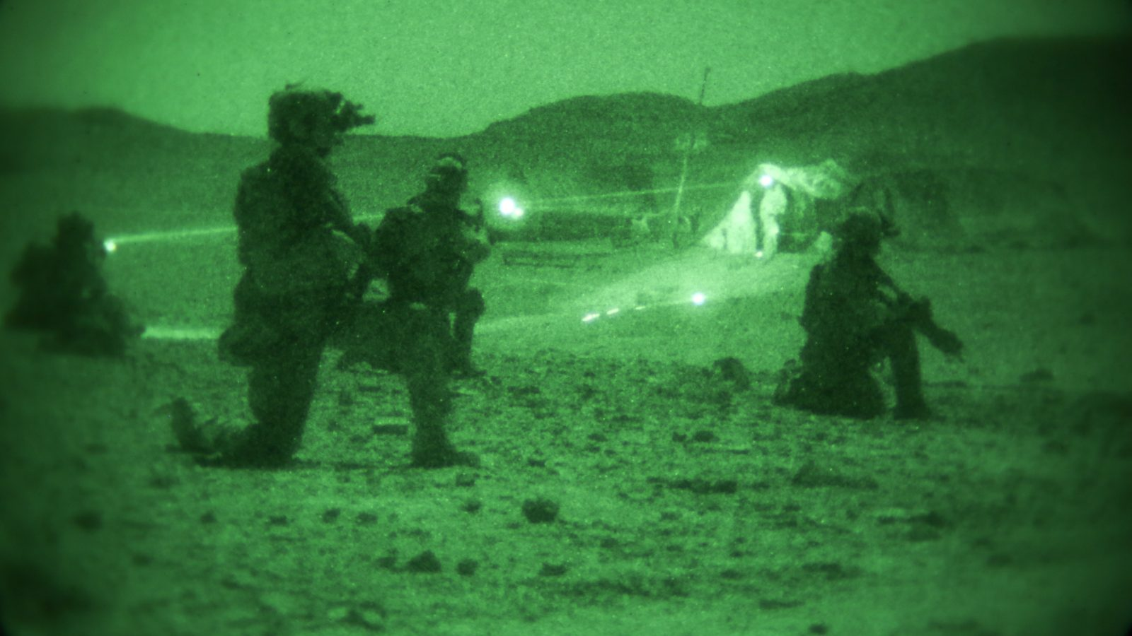 military operation at night