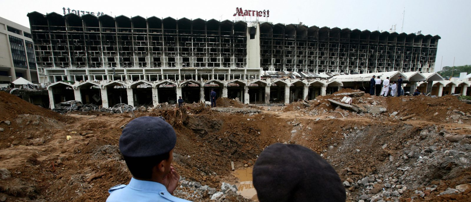 destruction at Marriott hotel